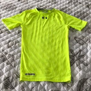 EUC Under Armour Neon Yellow Green Compression Top